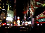 A blurry view of busy, busy Broadway.