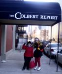 Me 'n Jaclyn at the Colbert Report set.