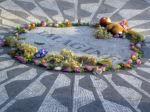 The John Lennon memorial in Central Park.